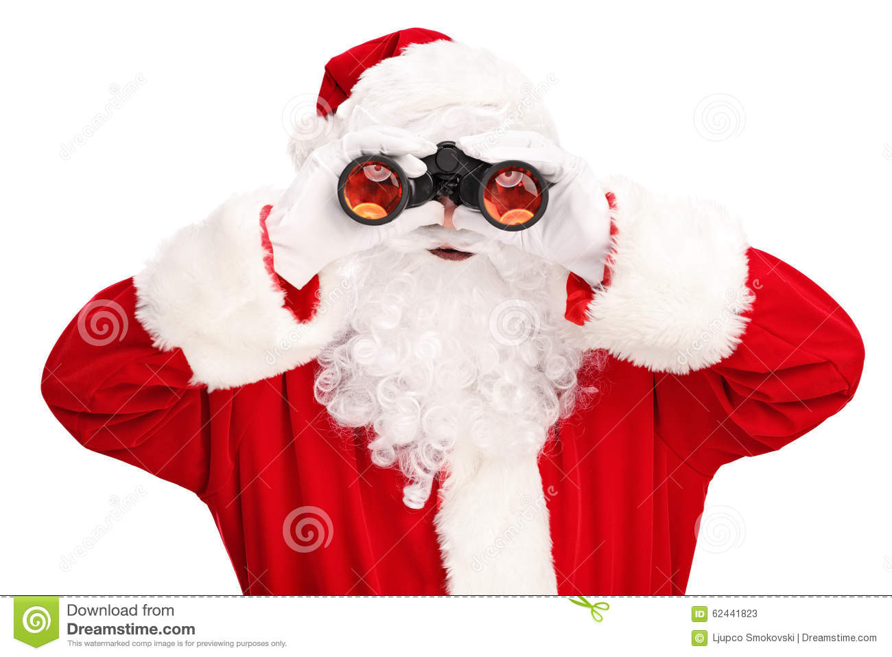 santa claus looking through binoculars stock image image vector binoculars price vector binoculars tm