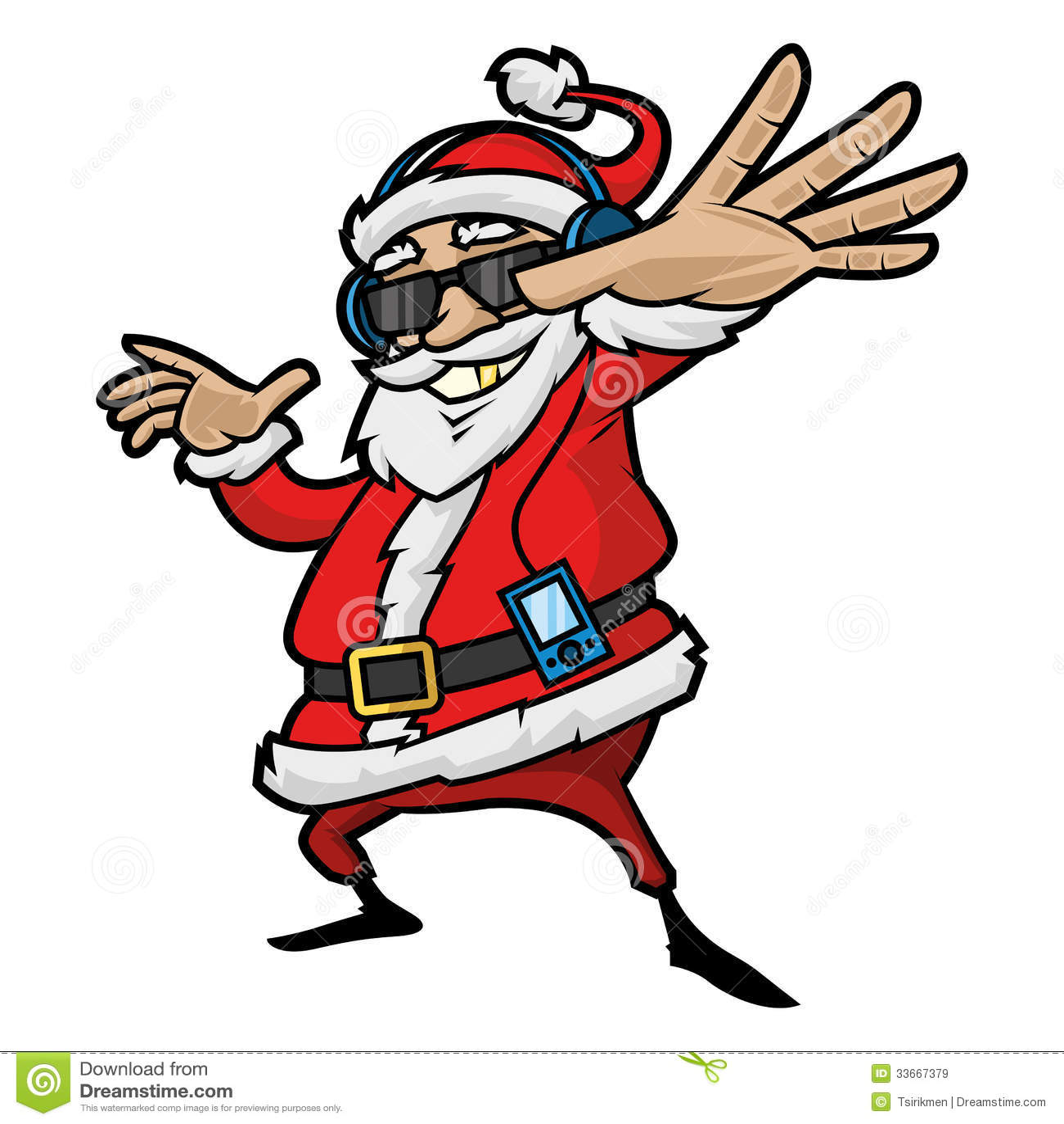 Santa Claus luistert aan speler