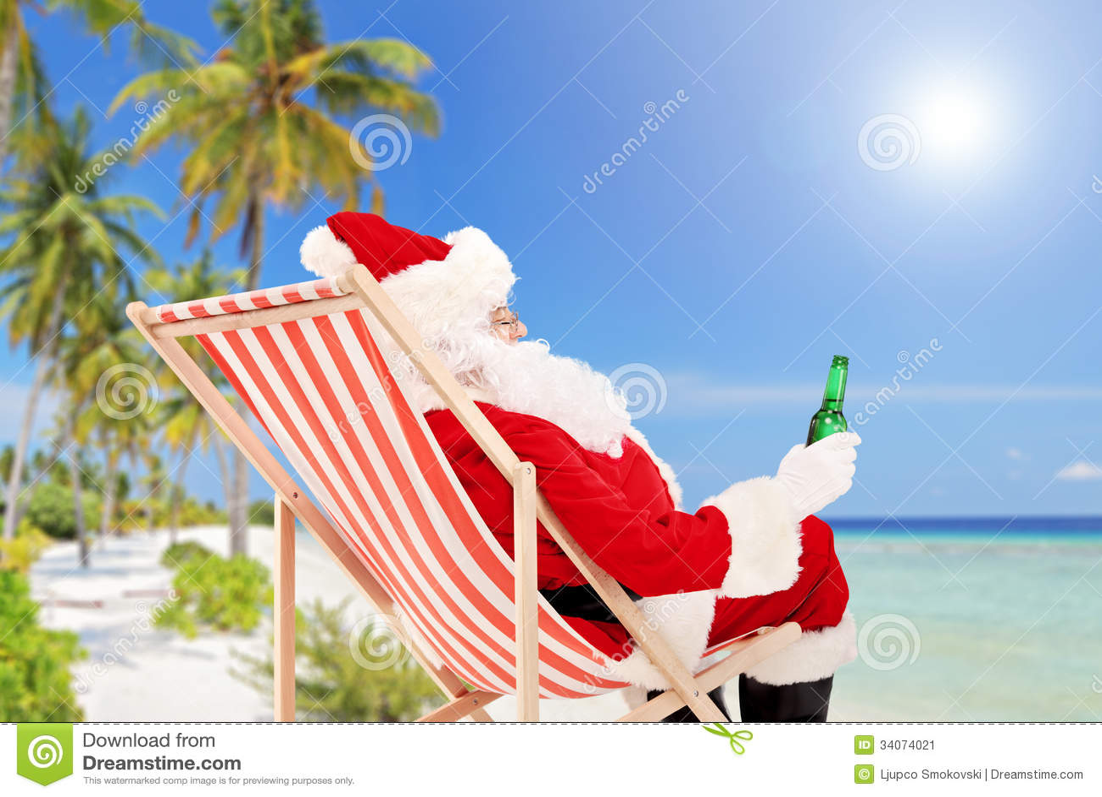 free clipart santa on the beach - photo #36