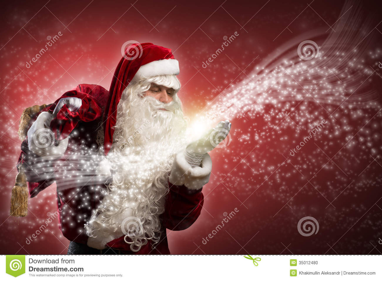santa claus and the magic stock photo image of magical. Black Bedroom Furniture Sets. Home Design Ideas