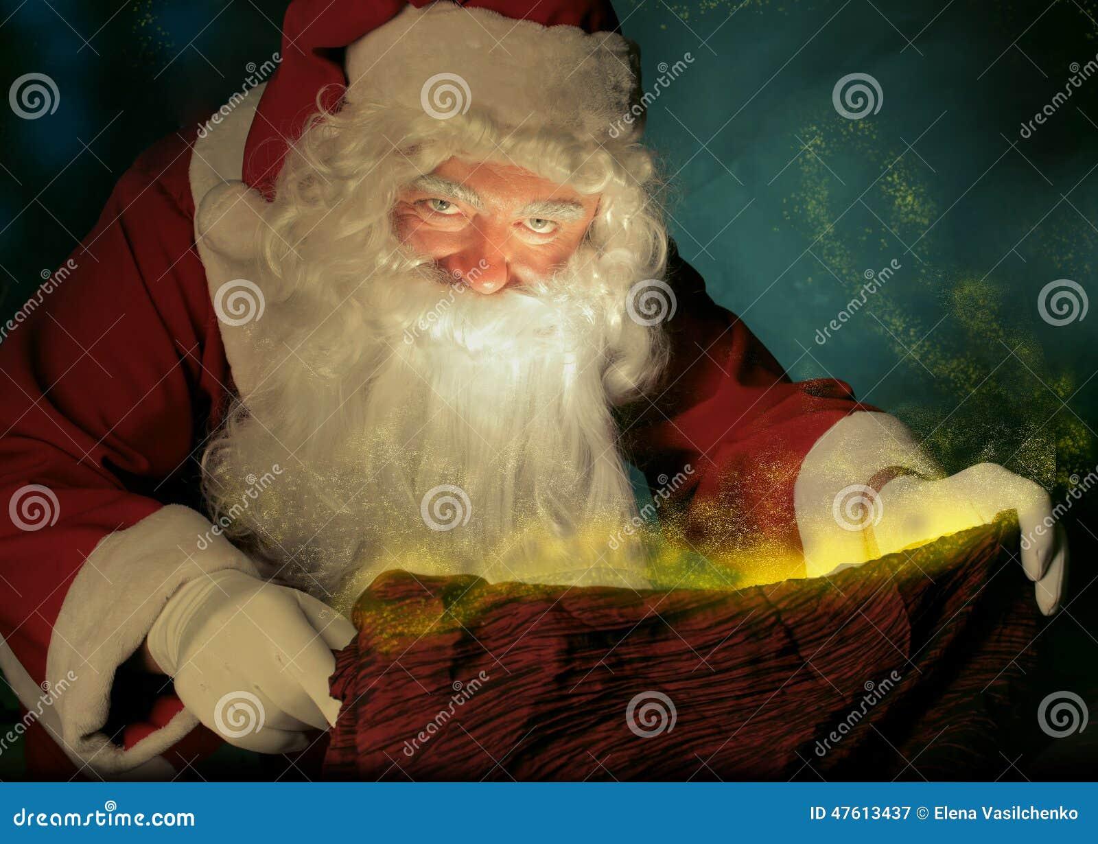 Santa Claus And The Magic Sack Stock Photo