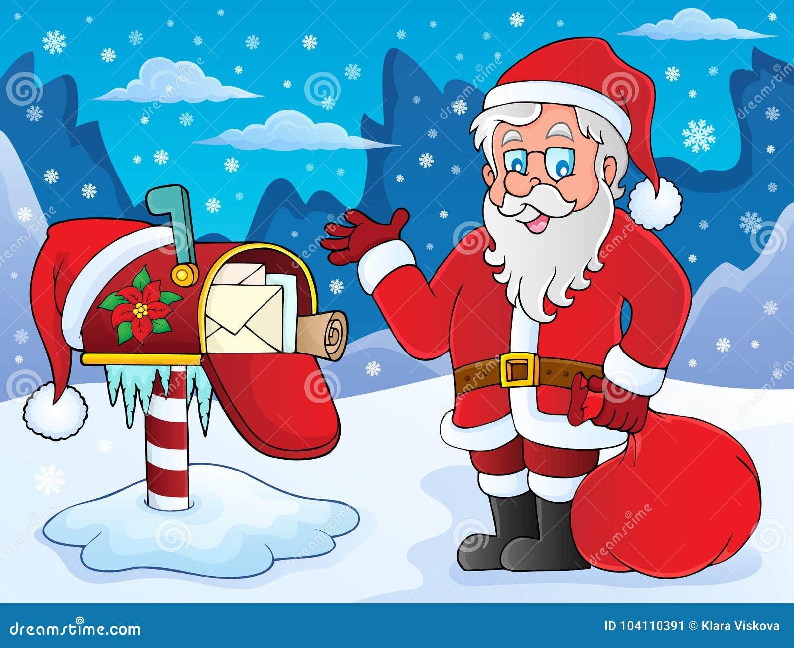 Santa Claus and mailbox theme 1