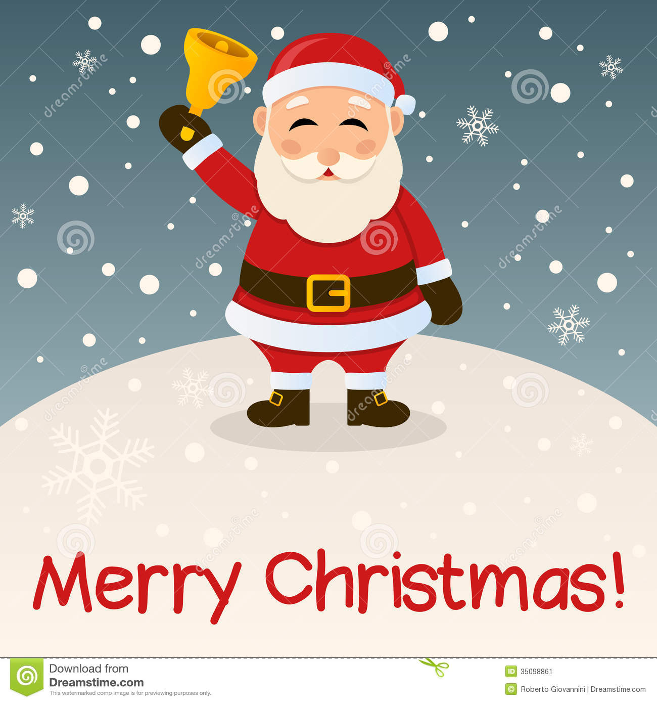 Santa Claus Merry Christmas Card Stock Image - Image: 35098861