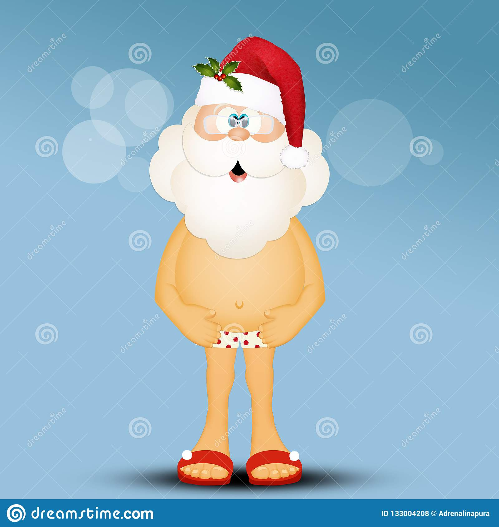 Swimwear Female Santa Clause Naked Gif
