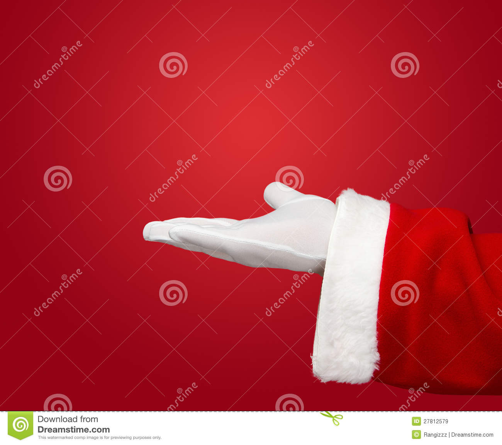 santa claus open hand stock image  image of human  present