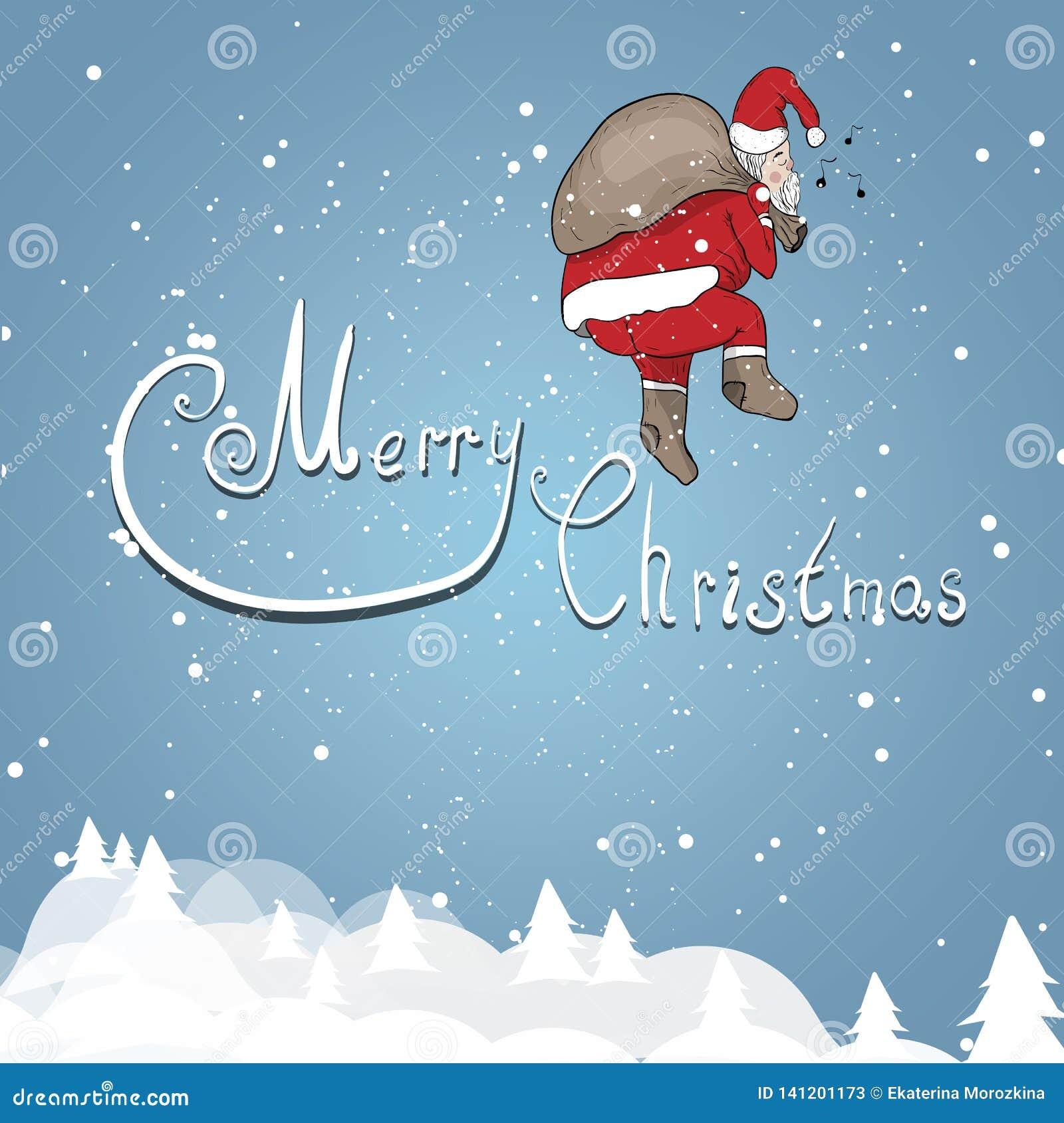Santa Claus på en bakgrund