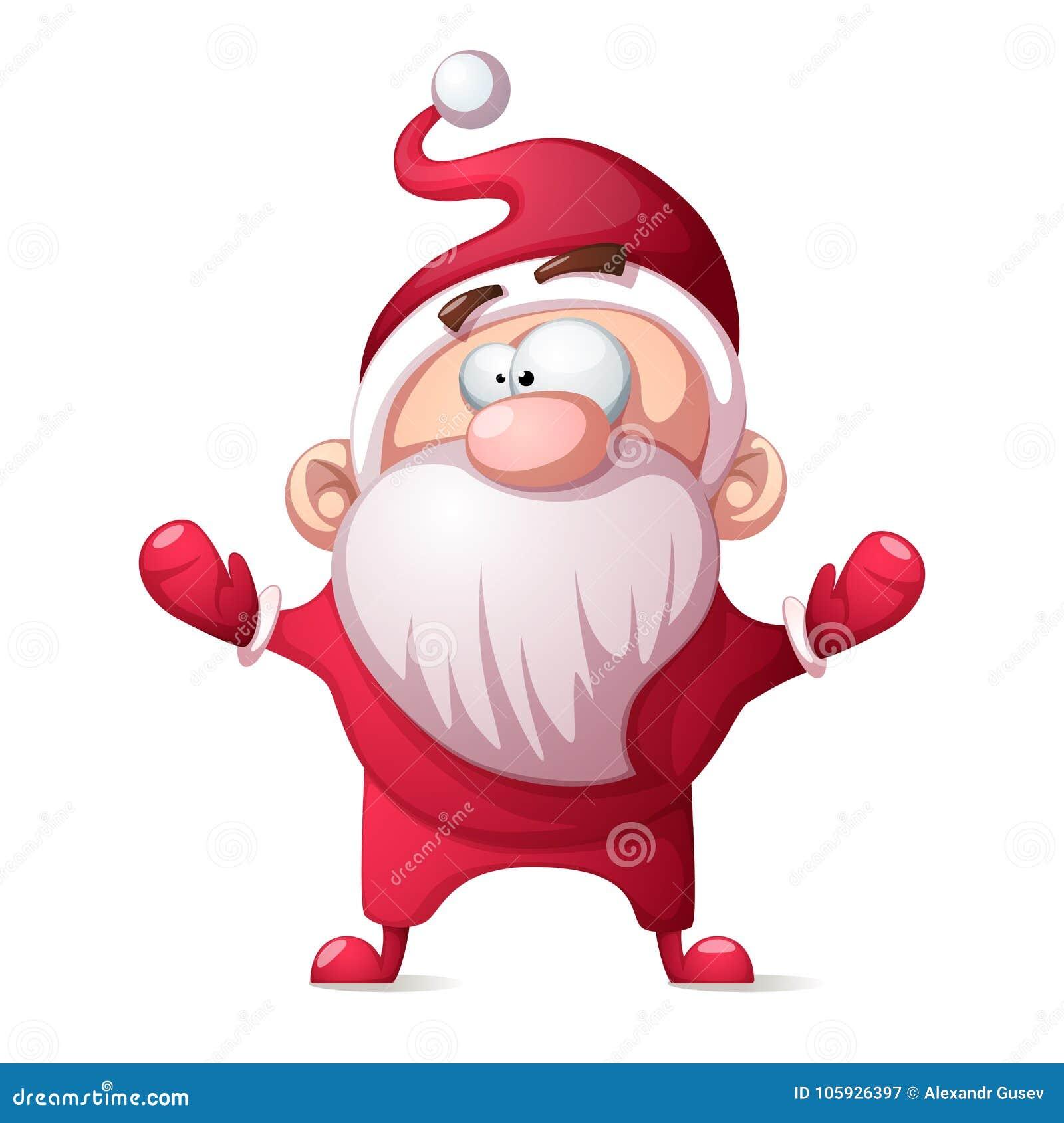 Santa Claus, padre Winter - historieta divertida, ejemplo lindo