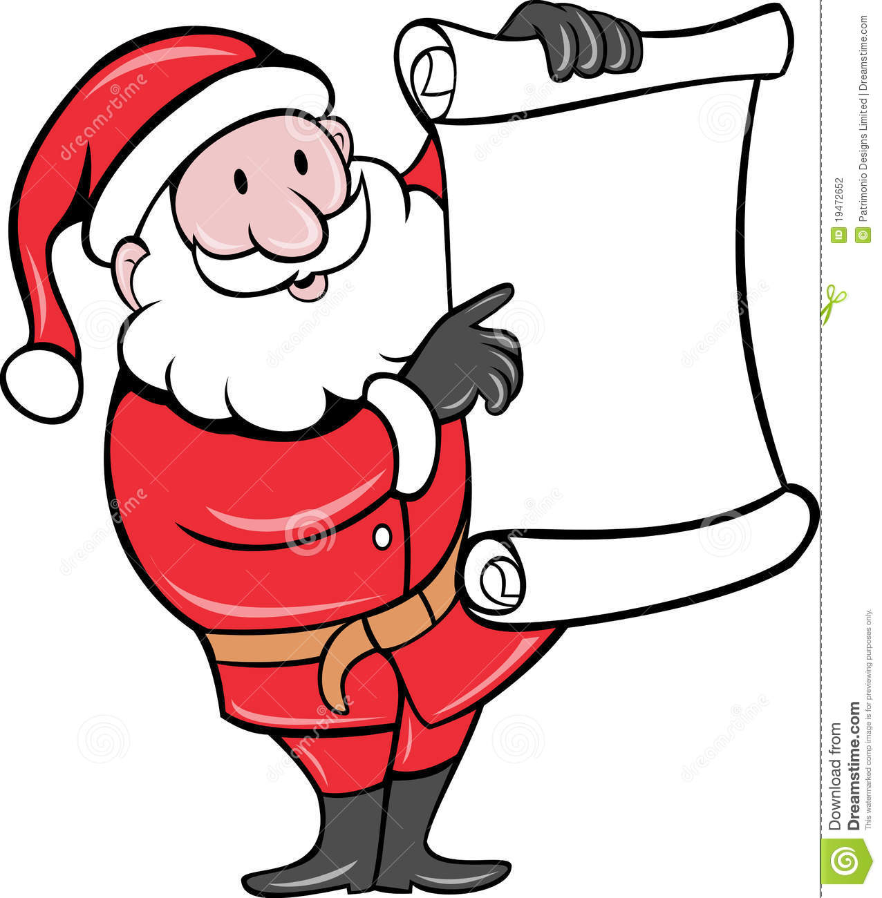 Santa Claus Paper Scroll List Stock Photography Image