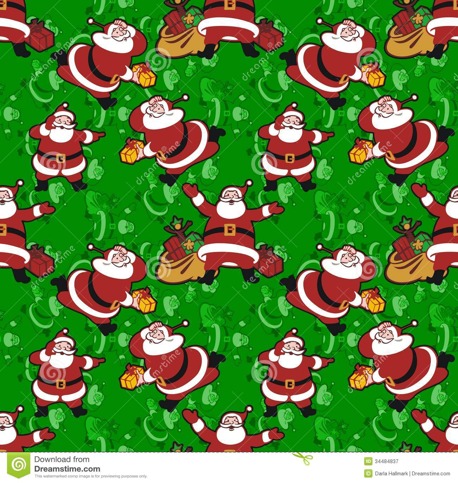 Santa Claus Pattern Royalty Free Stock Photography Image