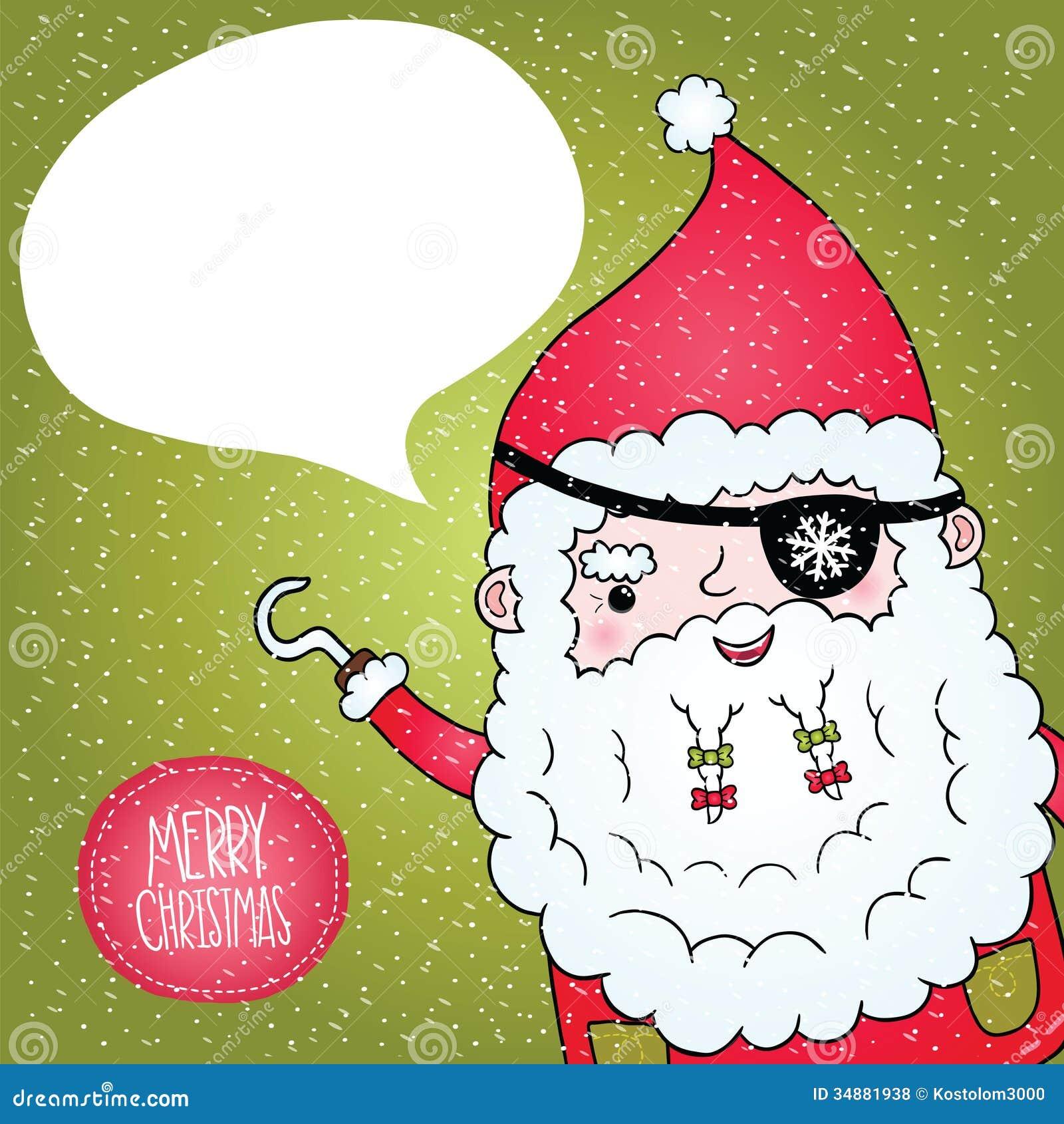 Santa Claus Pirate Poster