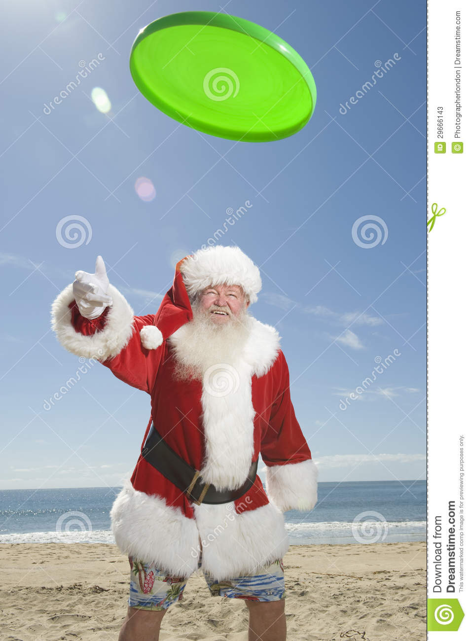 Santa Claus Playing With Flying Disc