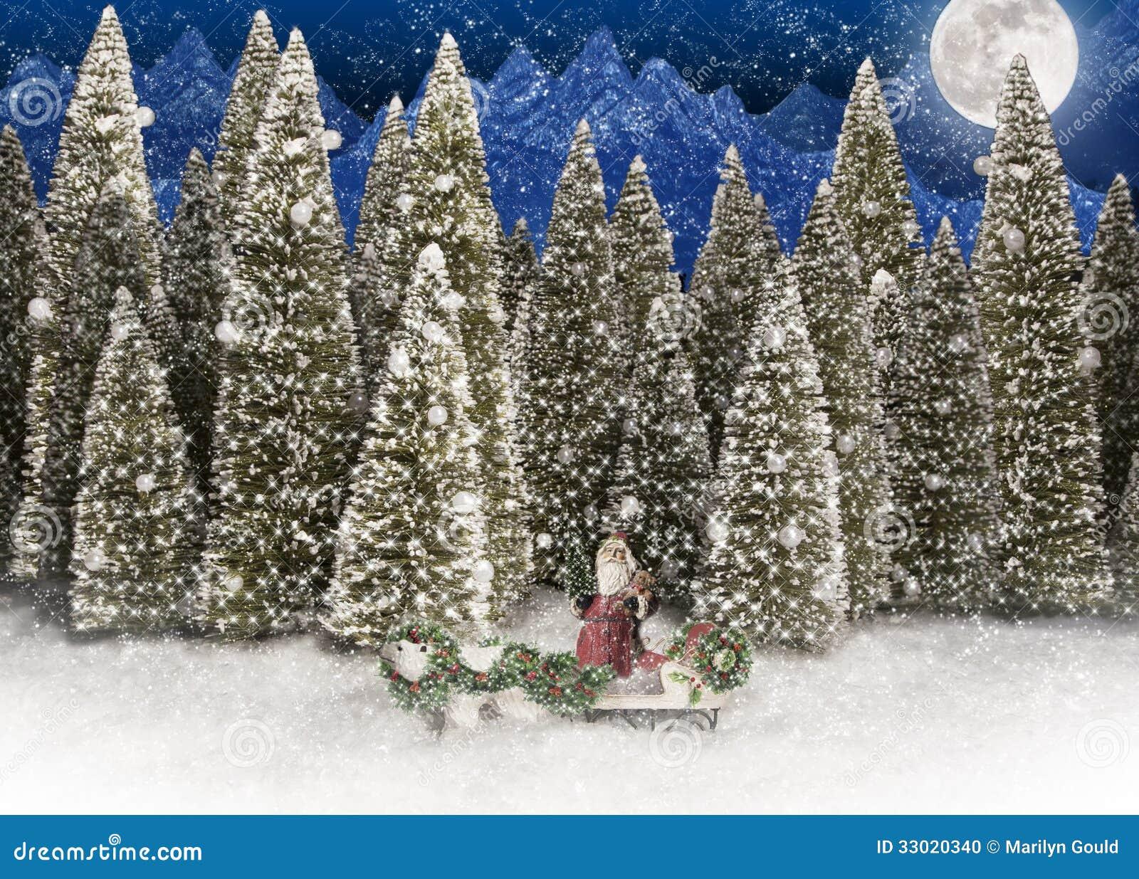 Santa Claus Polar Bear Forest