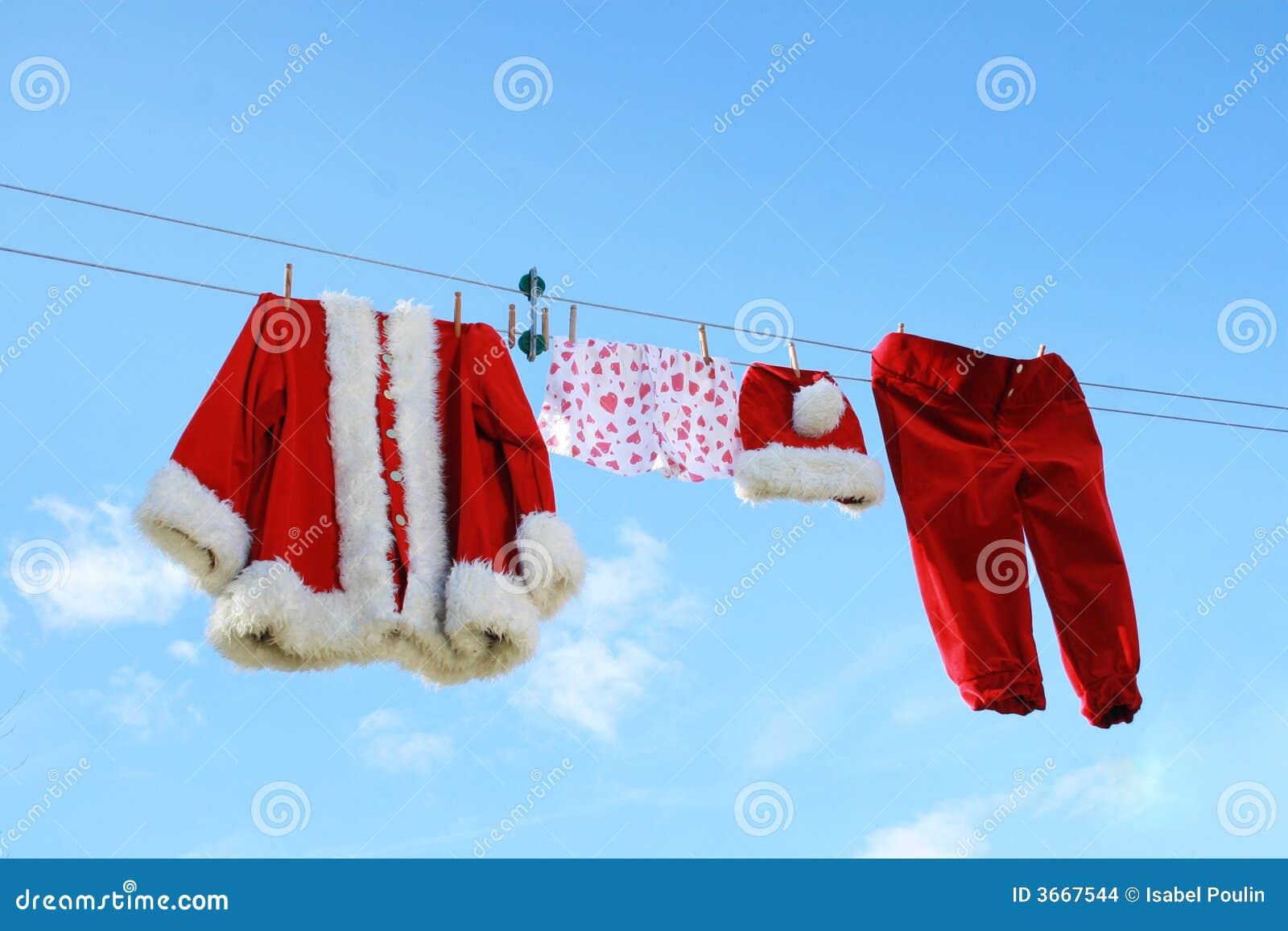 Santa claus pranie
