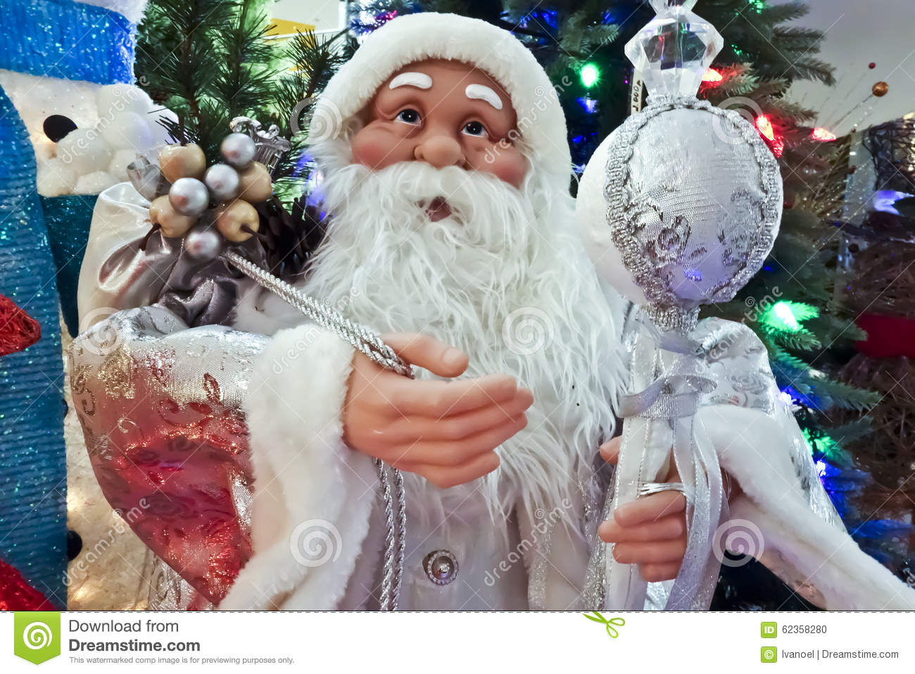 Sack Of Toys For Christmas : Santa claus with presents and toys stock photo image