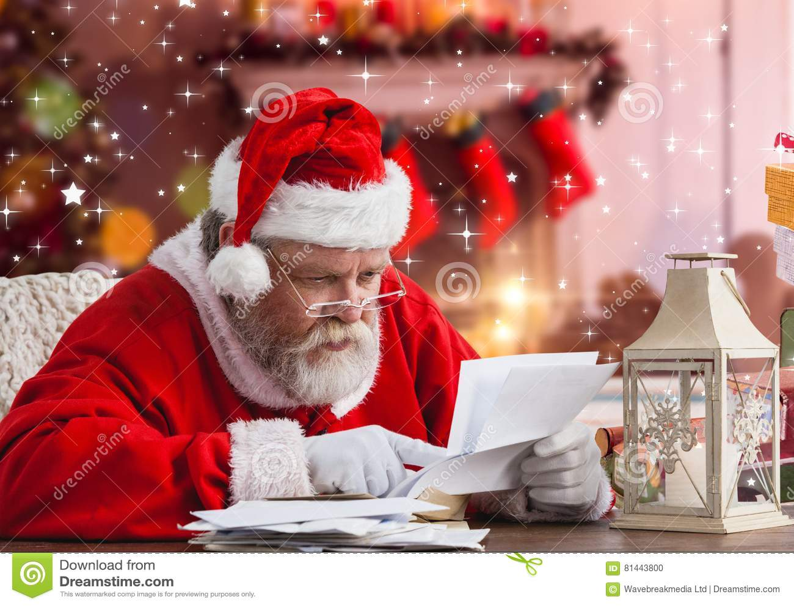 Santa claus reading christmas wish letter stock photo image of download santa claus reading christmas wish letter stock photo image of adult letter spiritdancerdesigns Gallery