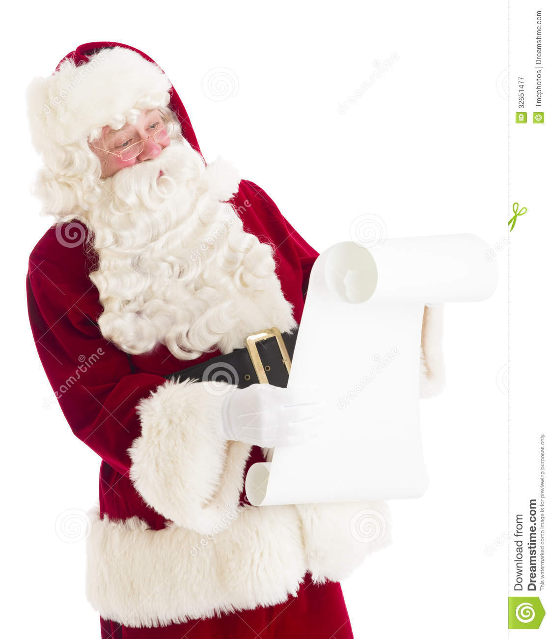 Santa Claus Reading Wish List Royalty Free Stock Photography - Image ...