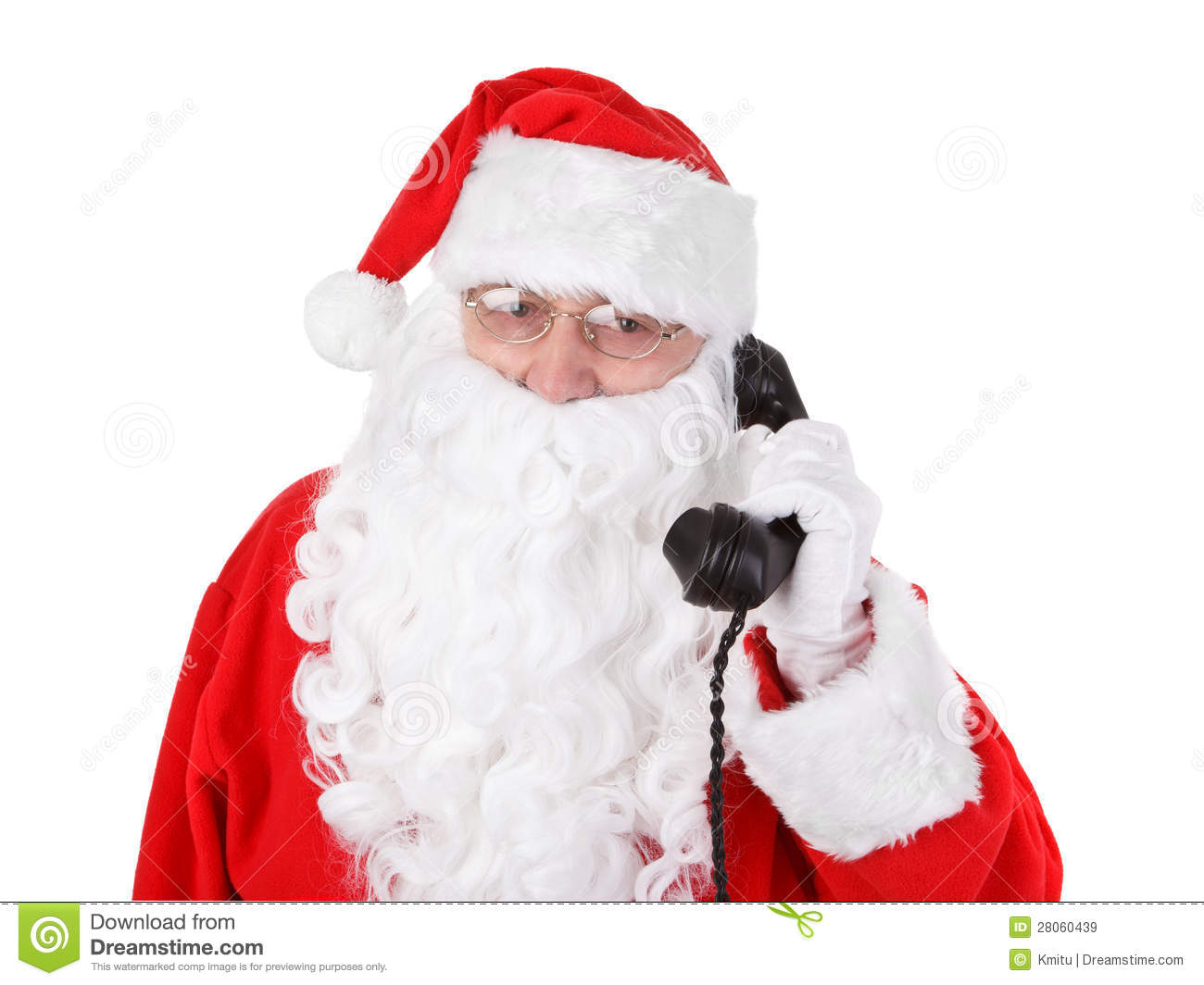 Santa claus receives a phone call stock image image of phone santa claus receives a phone call jeuxipadfo Choice Image
