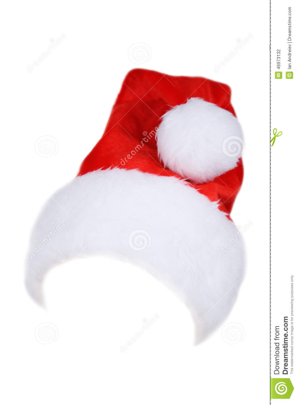 Santa claus red hat isolated on white stock photo image