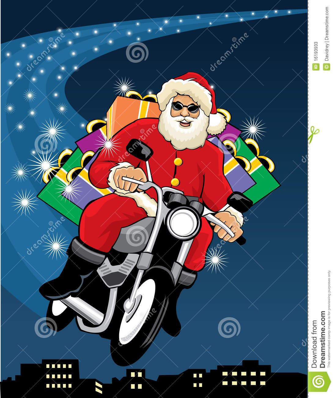 Santa claus riding a motorcycle stock vector illustration of santa claus riding a motorcycle jeuxipadfo Choice Image