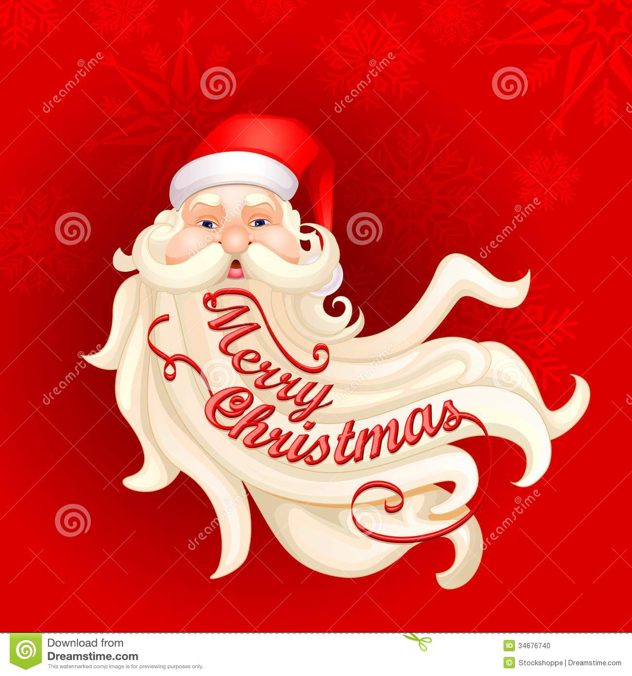 Santa Claus's Beard Forming Merry Christmas Stock Photo - Image ...