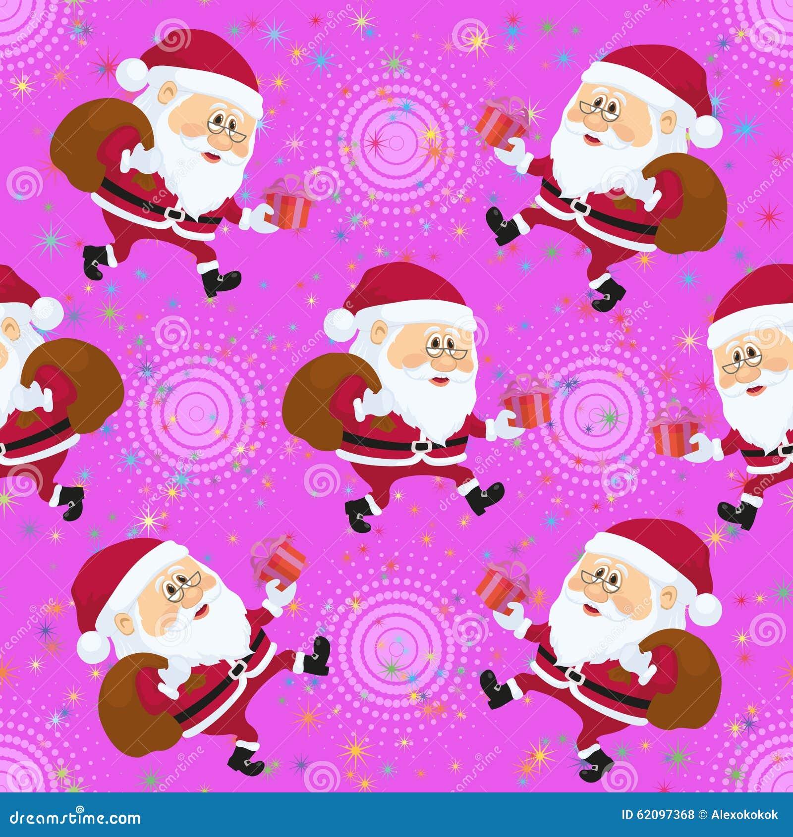 Santa Claus, Seamless Stock Vector