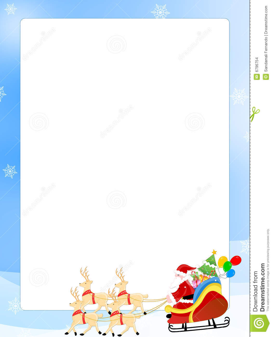 Cute Christmas Border Merry And Happy New Year 2018
