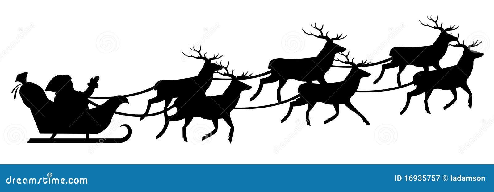 Santa Claus On Sledge. Vector