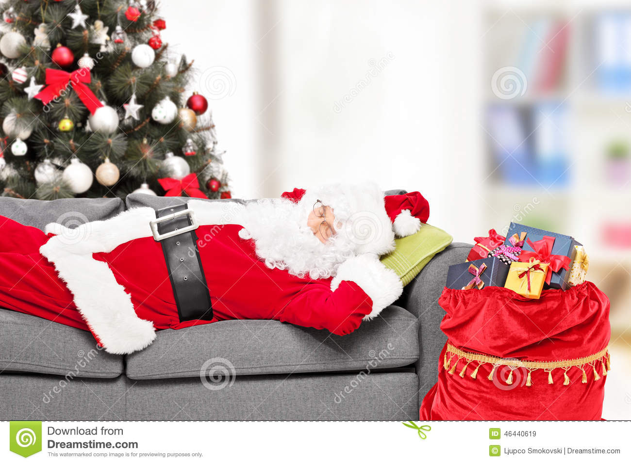 Merry Christmas Cushion Covers 45*45cm Santa Claus Pillow