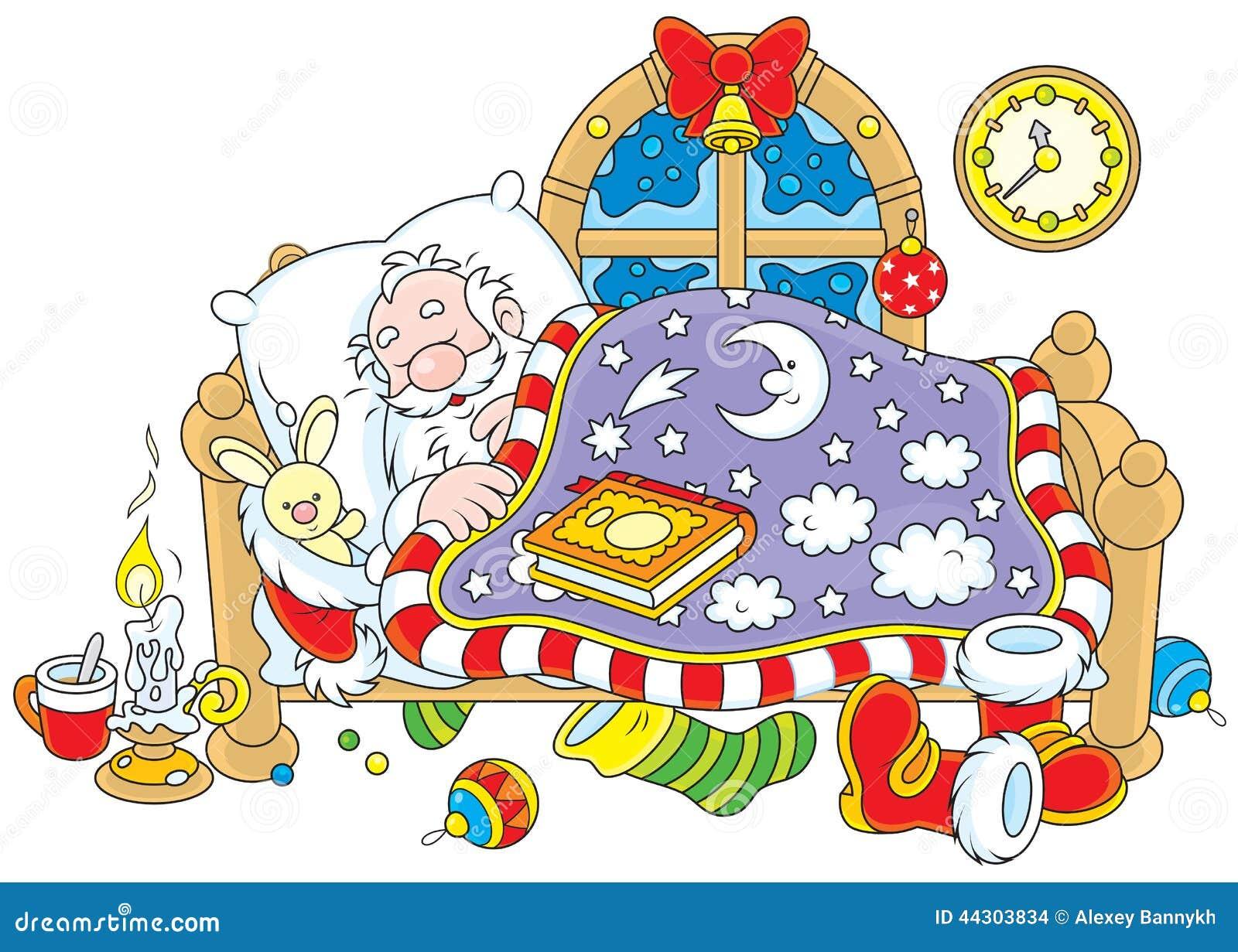 Santa Claus Sleeping Stock Vector Image Of Nicholas