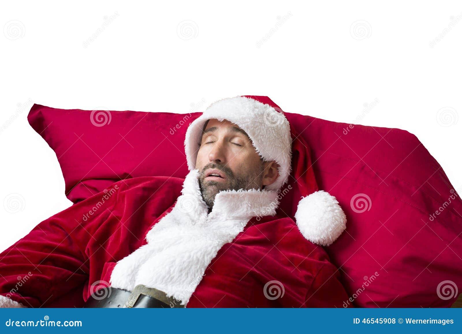 Santa Claus Sleeping Stock Photo. Image Of Beard, Concept