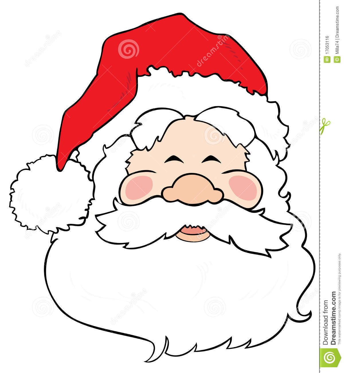 Santa Claus Smiling. Royalty Free Stock Image - Image: 17053116