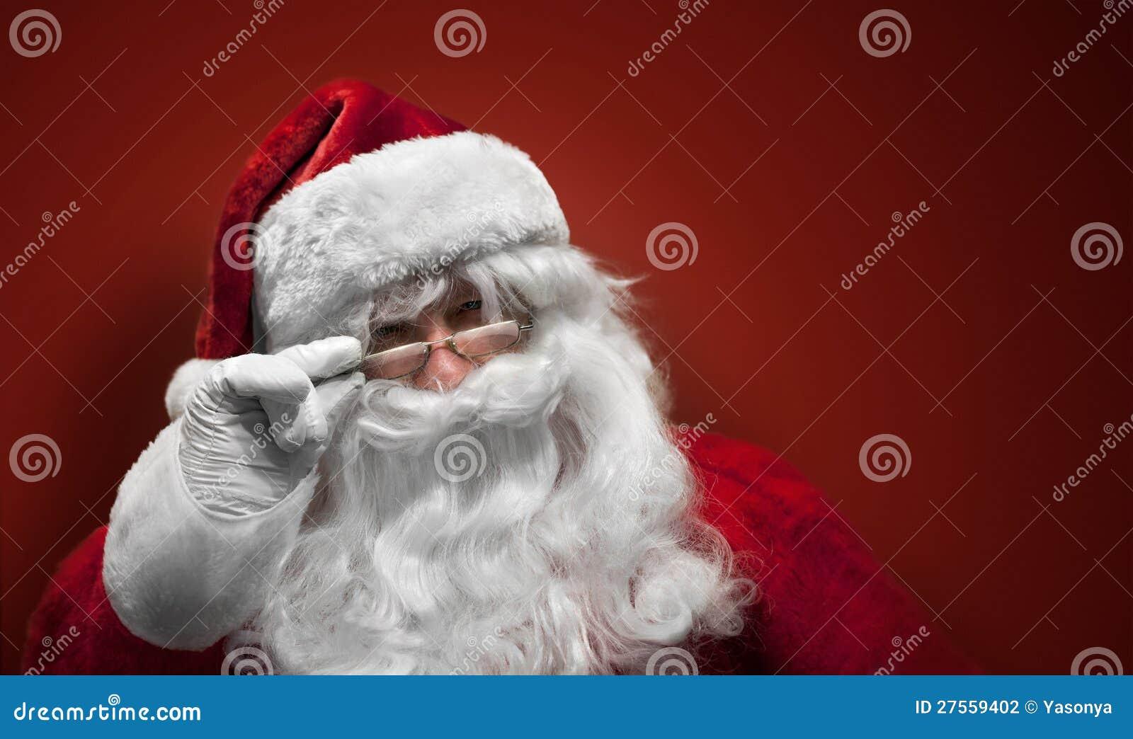 Santa Claus Smiling Face Stock Photography