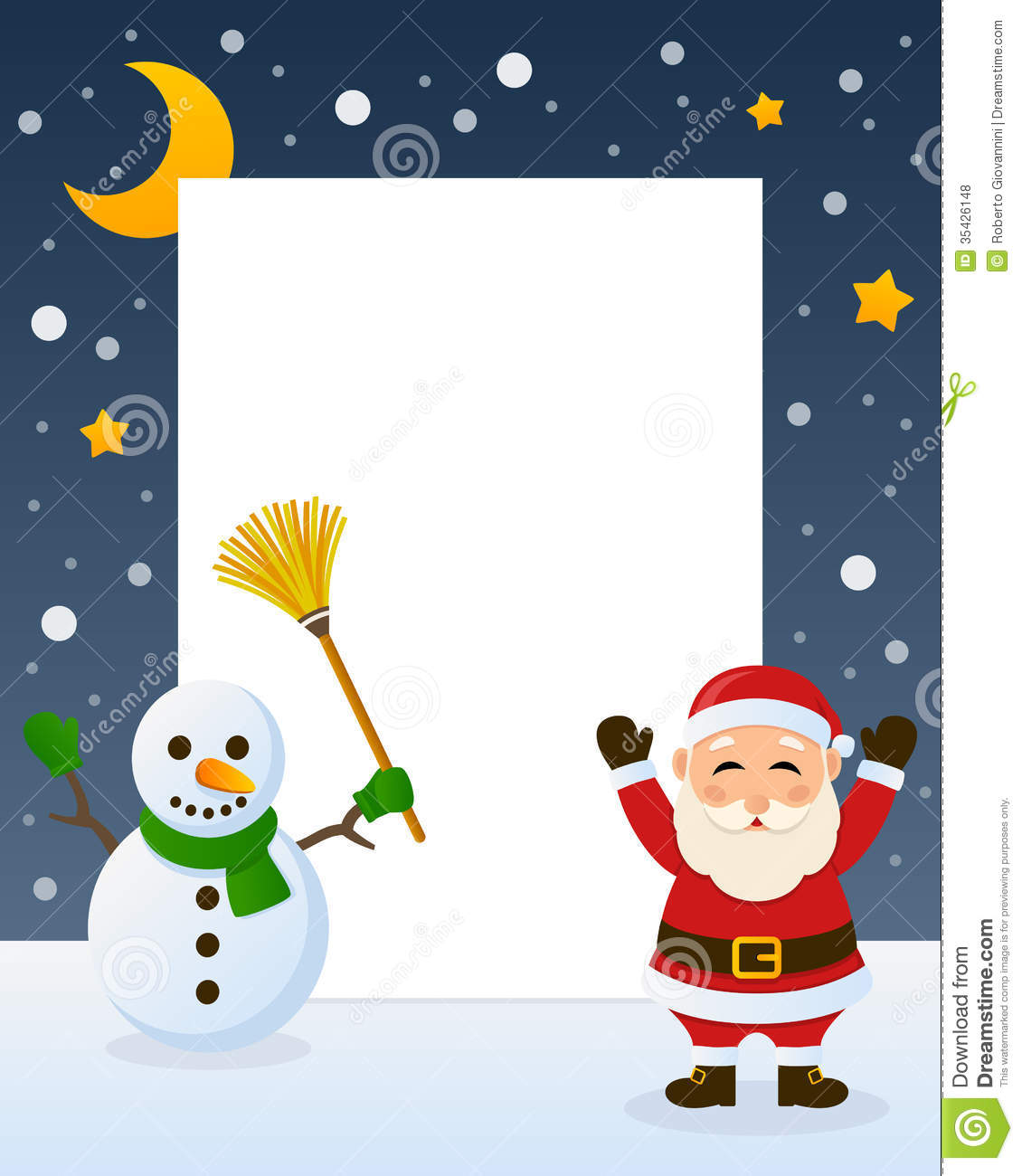 Santa Claus And Snowman Frame Royalty Free Stock Photos - Image ...