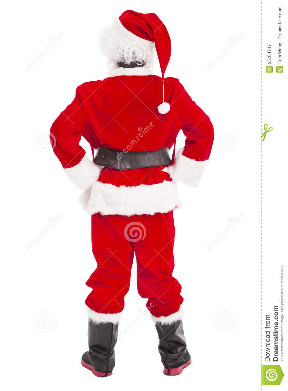Santa Claus Standing And Back View Royalty Free Stock