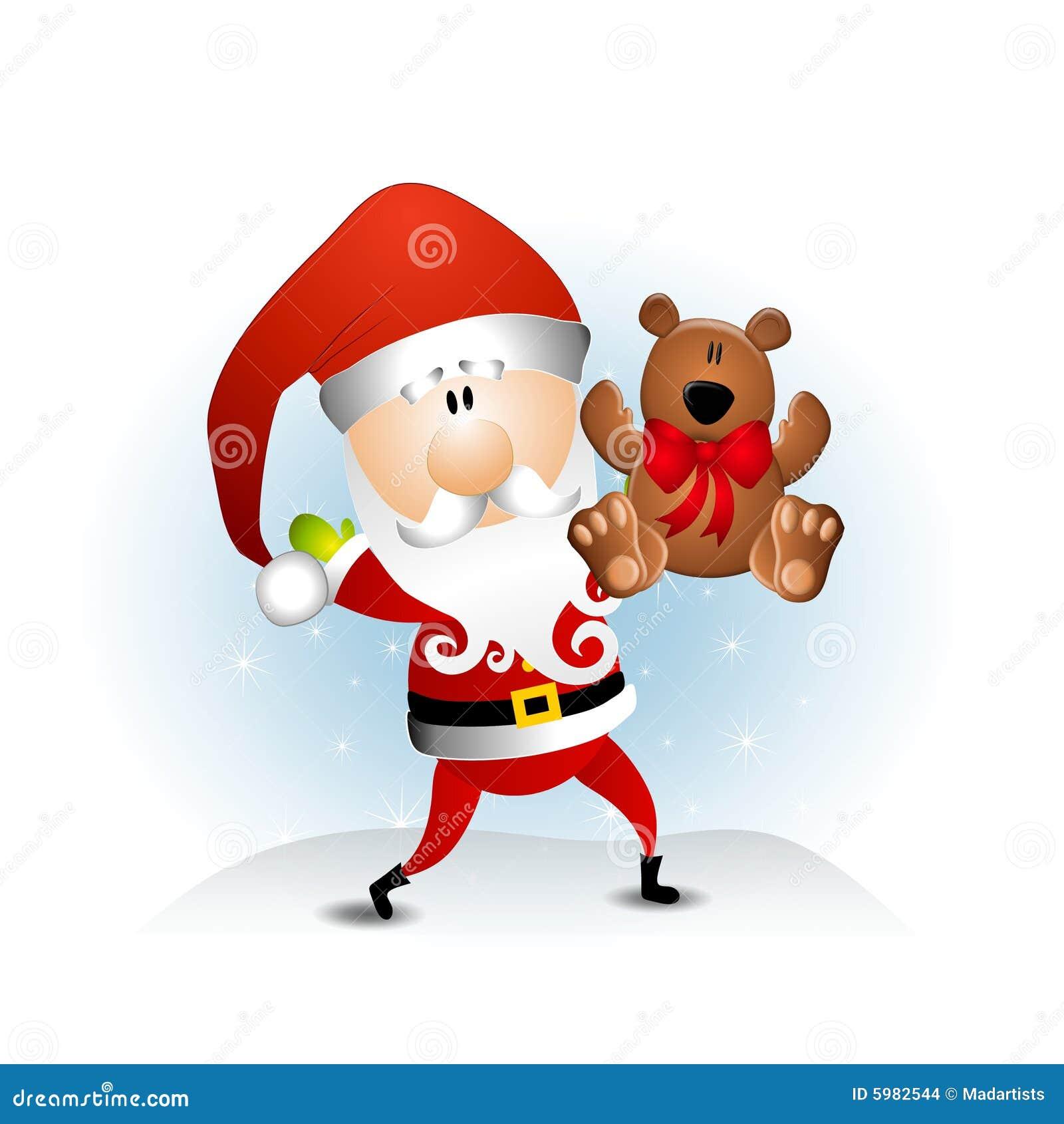 Santa claus teddy bear stock illustration image of