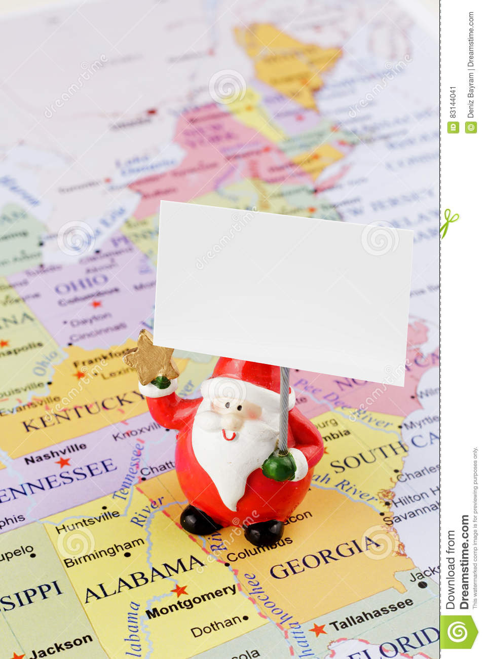 Santa Claus on the USA map stock image. Image of environment ... on oolitic map, oats map, tell city map, gulf of antalya on a map, headless horseman map, splashin safari map, santa and his reindeer, north pole map, track santa map, christmas map,