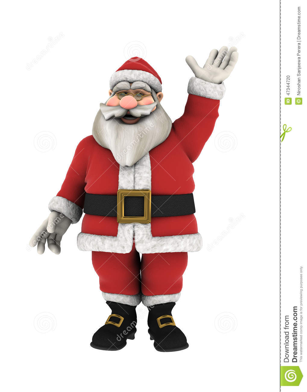 Santa claus waving hand over white stock vector image