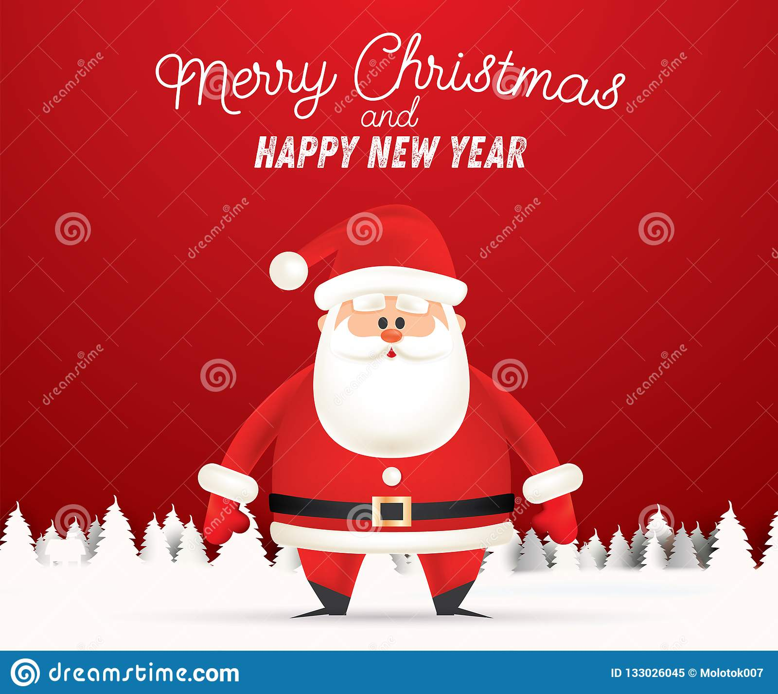 Frohe Weihnachten Grüße.Glückwunsch Gruß Feste Wald Frohe Weihnachten Und Ein Gutes Neues