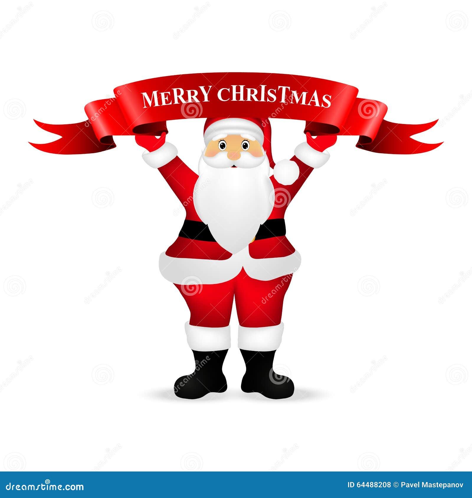 Christmas Clipart Santa.Santa Claus Wishes Everyone A Merry Christmas Stock