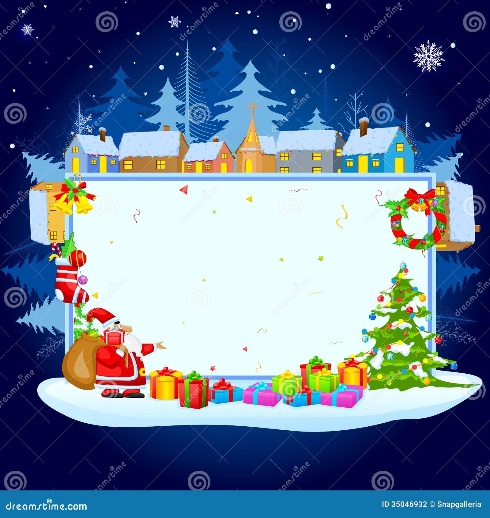Santa Claus Wishing Merry Christmas Stock Photography - Image ...