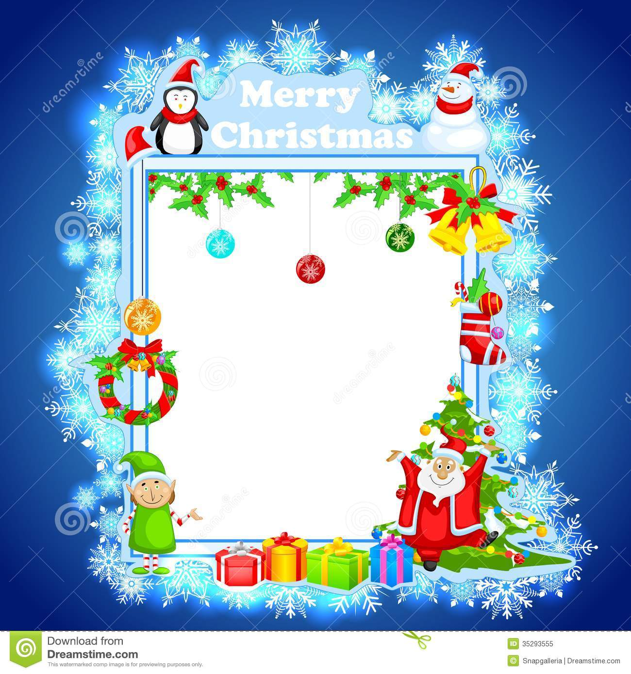 santa claus wishing merry christmas stock vector illustration of present invitation 35293555