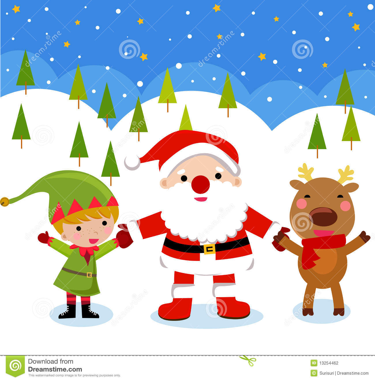 Uncategorized Santa And Rudolph santa clause rudolph and elf stock photography image 13254462 royalty free photo download rudolph
