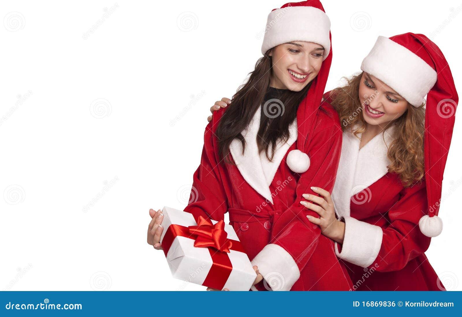 Santa com presente do Natal