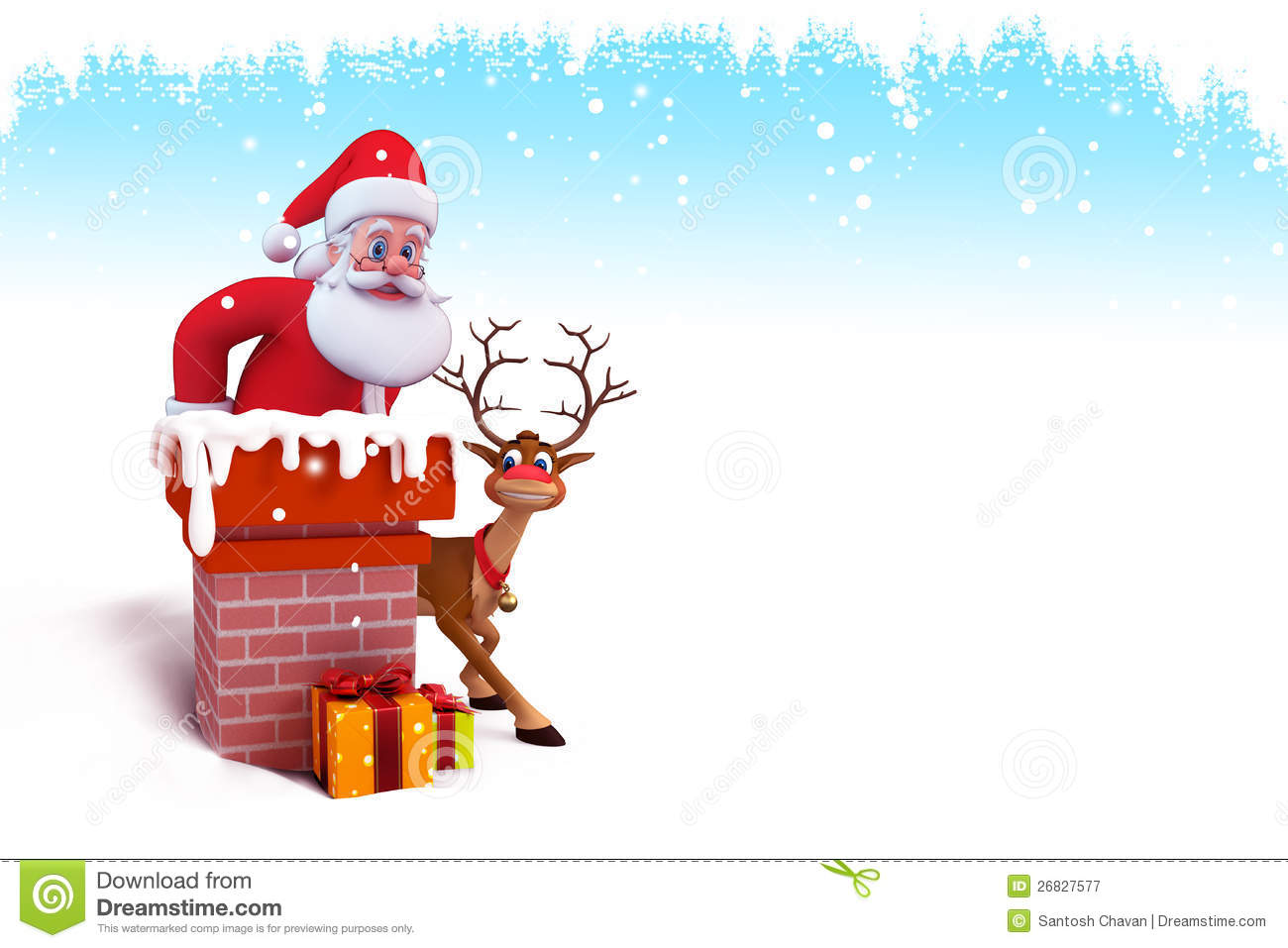 royalty free stock photography santa is coming out of