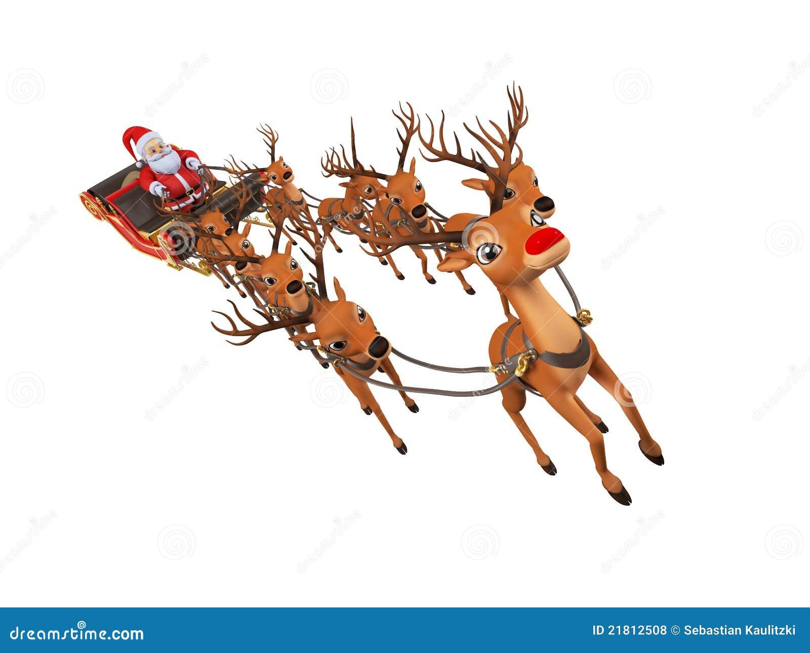Santa con su trineo