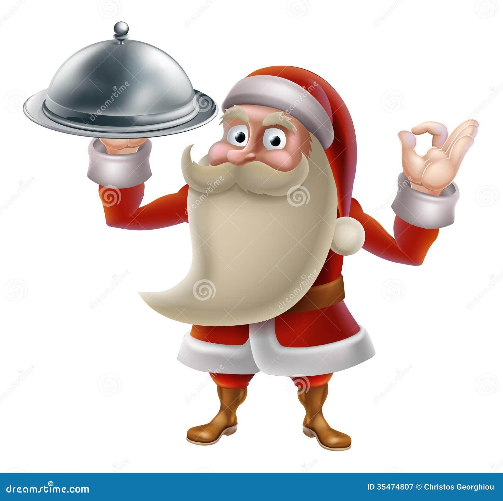 Santa Cooking Christmas Food Royalty Free Stock Photography ...