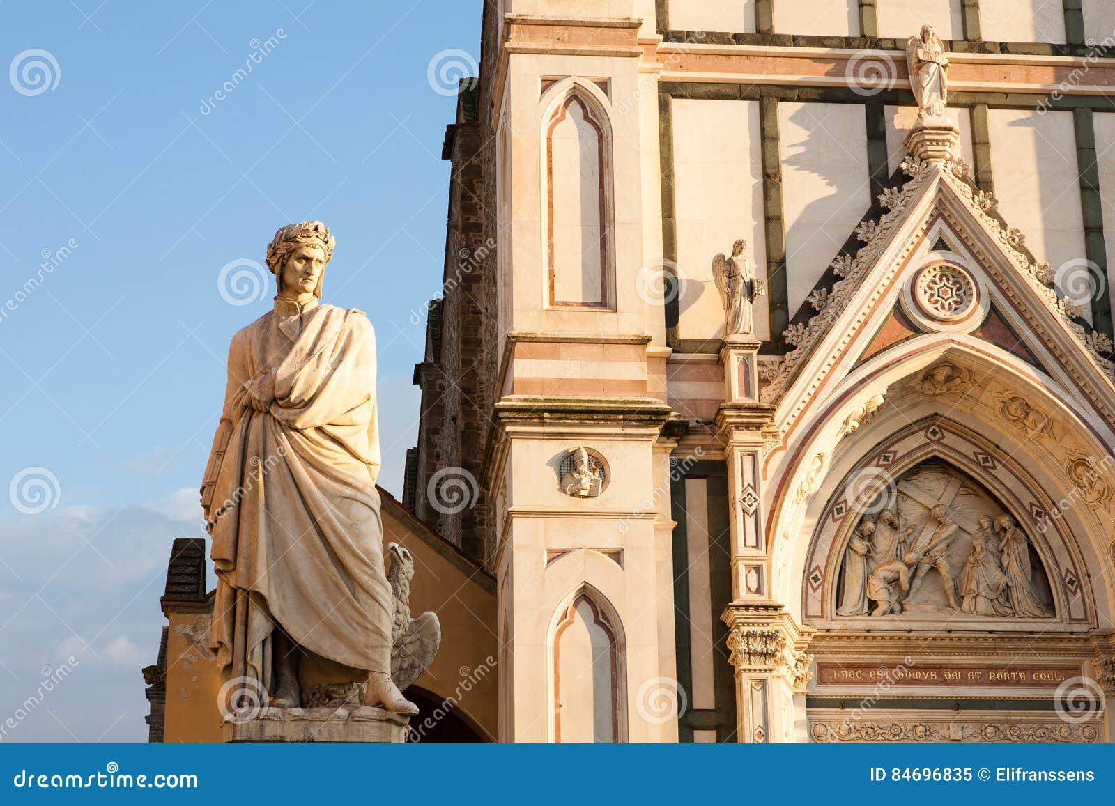 Santa Croce-kerk en Dante, Florence, Italië
