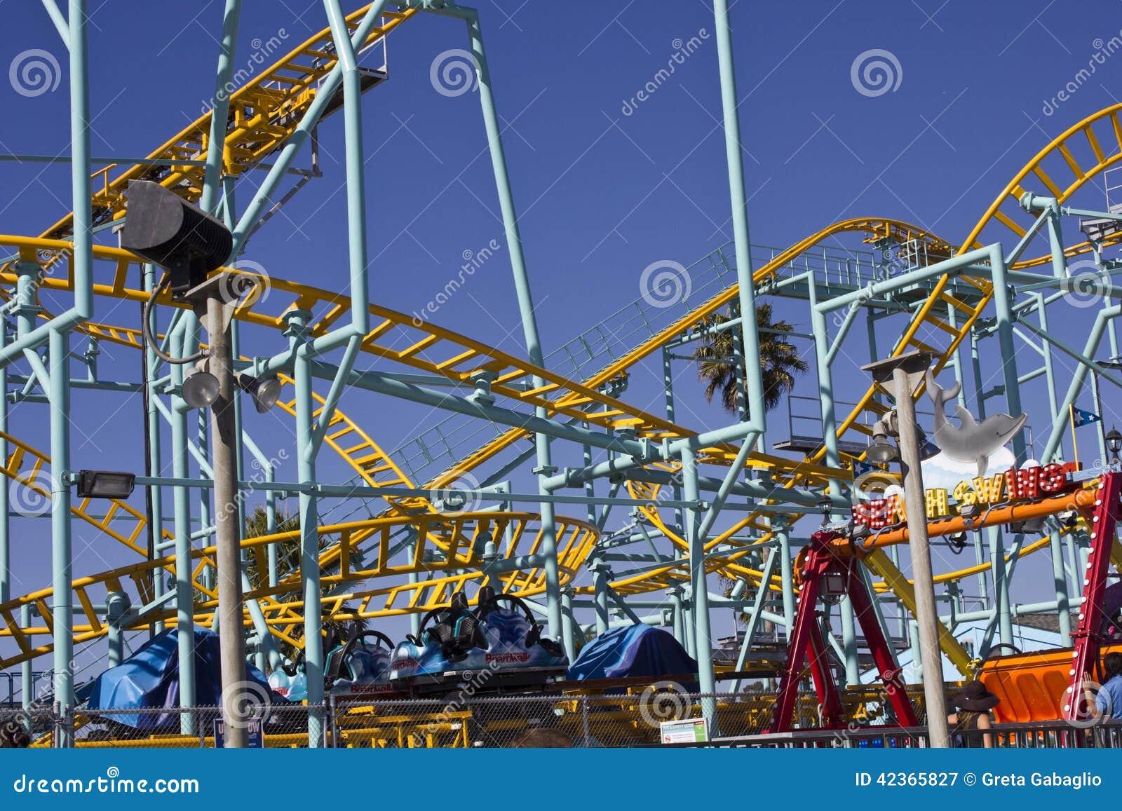 Th the largest city in california - Santa Cruz Fun Park Rollercoaster Editorial Photography