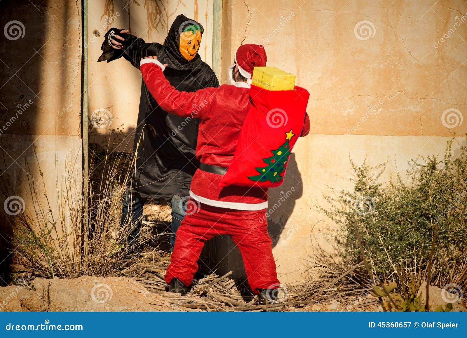 Santa dans des problèmes terribles