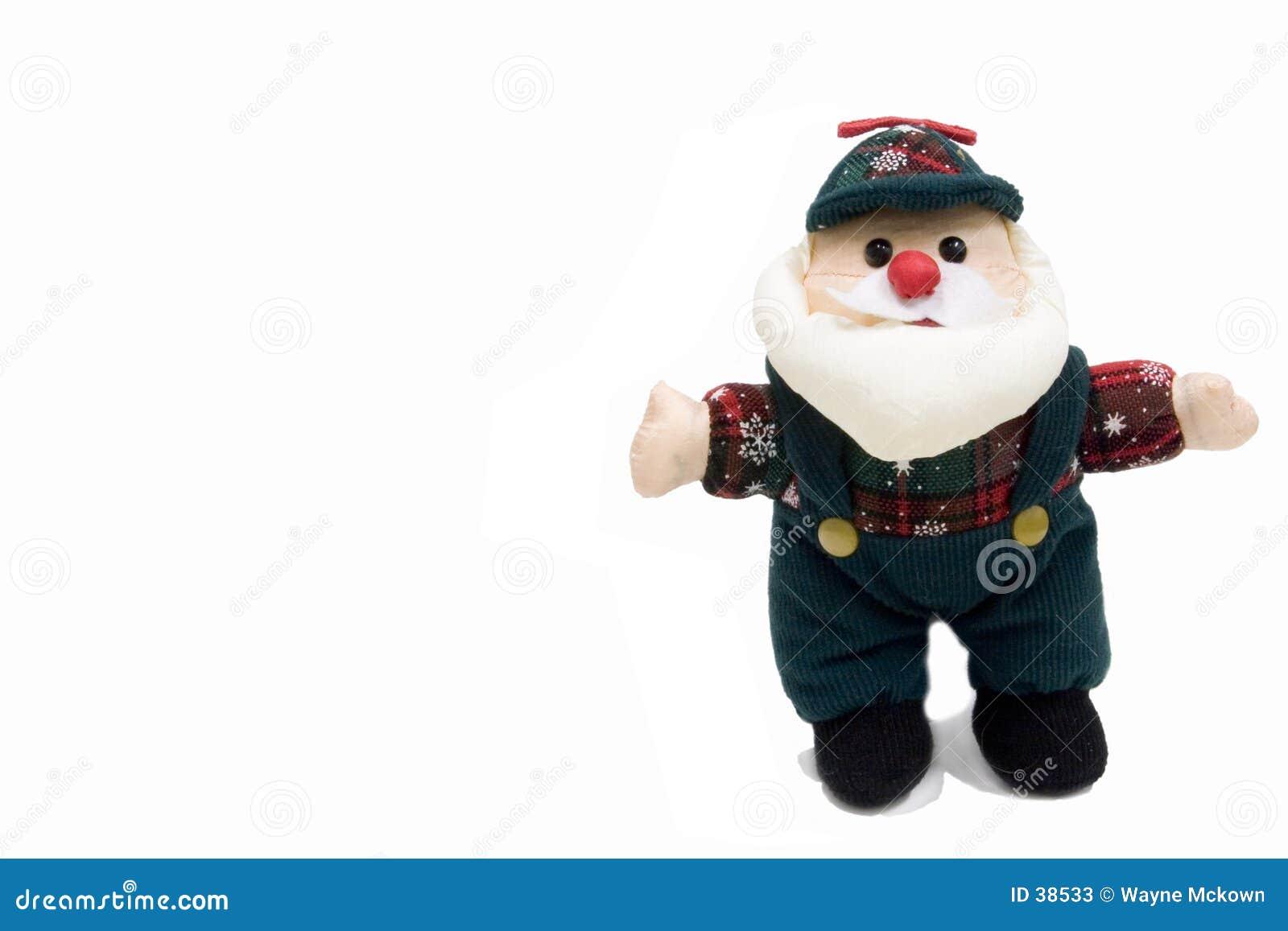 Santa dans des vêtements de travail